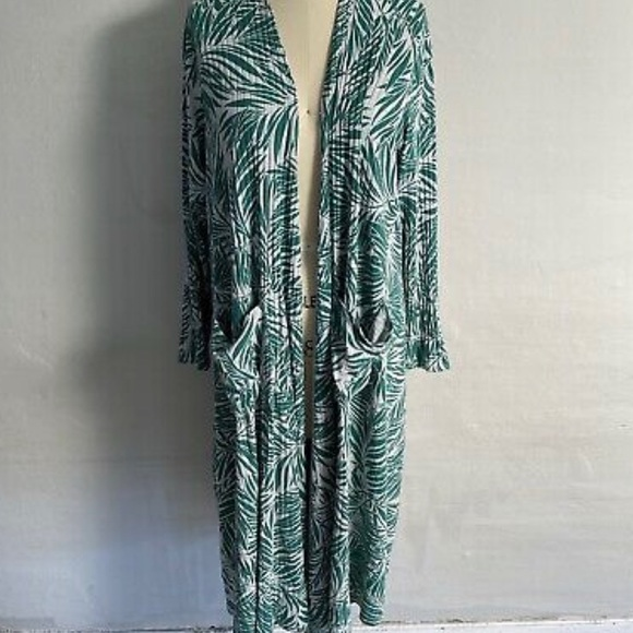 Palm Leaf Open front Kimono